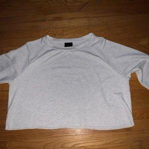 Cropped white/Black long sleeve shirt